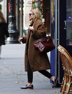 Mary-Kate Olsen loafers coat