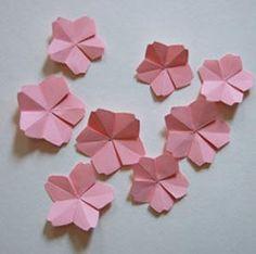 Vaidades de Arquiteta   Quartas de Faça Você Mesmo - DIY - Origami de Flor de Cerejeira
