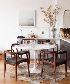 SAARINEN Round Tulip Marble Table | Mid Century Furniture Finds | Ebay. #sponsored