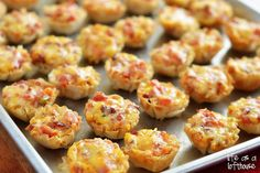 Cheesy Bacon Rotel Cups - Life In The Lofthouse. Like Tanya made :)
