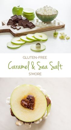 Upgrade this classic summer dessert to a healthier Gluten-Free Caramel Apple S'more option that will melt your heart. Core your apple with a mini heart-shaped cookie cutter (or a shape of your choice) to remove the seeds and make a photo-worthy treat. #FunFoodSun