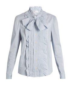 Chemise femme à noeud lavallière Red Valentino, 325 euros / 21 chemises pour passer du bureau au resto