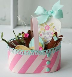 Easter Basket with Felt Ornaments by Betsy Veldman for Papertrey Ink (February 2013)