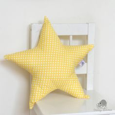 READY TO SHIP: Star shaped pillow star cushion by CheekyStitches