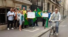 Em Paris, manifestação contra o governo tem adesão de 20 brasileiros http://oesta.do/1NbrD3l Já é alguma coisa! E estão ali protestando sem pão com mortadela