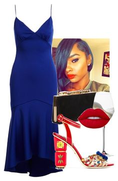 """""""Untitled #317"""" by thewisefashonista on Polyvore featuring Theia, Jimmy Choo, Riedel and Dolce&Gabbana"""