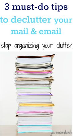 this de-cluttering series  tips.    I need to remember this one for mail and paperwork.