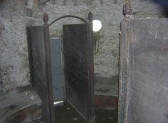 Inside the 10 seater privy, Porth Penrhyn, Bangor.