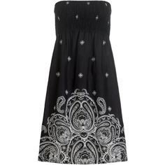 Monsoon Paisley Placement Print Bandeau Dress (€32) found on Polyvore