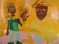 Public ennemy, by Chris Ofili