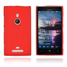 GelCase (Rød) Nokia Lumia 925 Deksel Cool Cases, Phone, Beauty, Silicone Rubber, Telephone, Mobile Phones