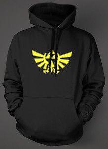 Triforce Wings Hoodie Black sweat Shirt The Legend of Zelda NES SNES N64   eBay