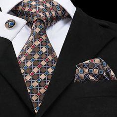 Tie, Pocket Square, and Cufflinks Set Tie Set, Different Patterns, Pocket Square, Stylish Men, Silk Ties, Mens Fashion, Neckties, Collection, Shirt Dress