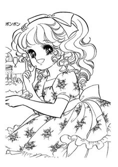 Printable Adult Coloring Pages, Cute Coloring Pages, Disney Coloring Pages, Coloring Sheets, Candy Pictures, Vintage Coloring Books, Princess Coloring, Beyblade Characters, Anime Scenery