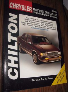 Chilton Chrysler 88-95 Front Wheel Drive Cars 6 Cylinder Repair Manual 20384