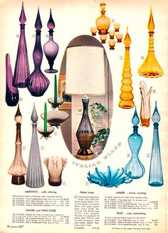 Italian glass from department store catalog