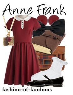 """Anne Frank"" by fofandoms ❤ liked on Polyvore featuring Lord & Taylor, The Cambridge Satchel Company, American Apparel, Myrtlewood, ASOS, Repetto and plus size dresses"