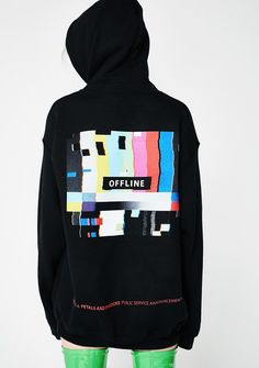 Petals and Peacocks Offline PSA Hoodie when u can't be bothered ATM. Let em' know with this hoodie that is embroidered OFFLINE on the front and an offline graphic on the back.