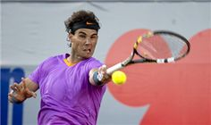 Spanish tennis player Rafael Nadal  returns the ball to Argentine Horacio Zeballos at the ATP Vina del Mar tournament final singles match, in Vina del Mar, about 120 km northwest of Santiago, on February 10, 2013. Zeballos won 6-7 (2/6), 7-6 (8/6) and 6-4