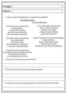 atividades-educativas-ligua-portuguesa-interpretacao-de-texto-poemas-cecilia-meireles-cavalinho-branco-o-menino-azul-ideia-criativa-ensino-fundamental+(2).png (1132×1600)