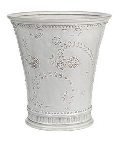 Another great find on #zulily! White Antique Wastebasket by Creative Ware Home #zulilyfinds