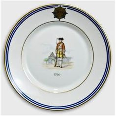 Royal Copenhagen Memorial plate, Uniforms of the Royal Life Guard 1750