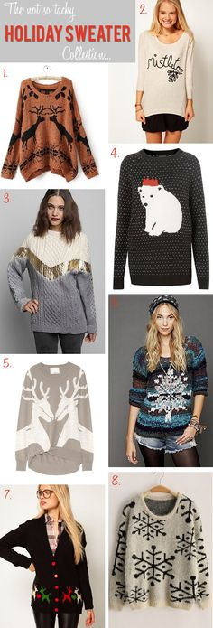 Not So Tacky Holiday Sweaters // Christmas Sweaters
