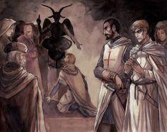 Templars Worshipping Baphomet by Flibertyjibbeth on DeviantArt