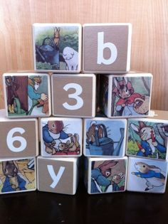 Peter Rabbit Building Blocks by OllieBeez on Etsy