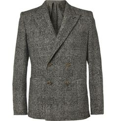 AMI Slim-Fit Prince of Wales Check Wool-Blend Blazer | MR PORTER