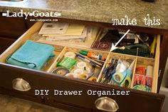 Lady Goats: DIY Drawer Organizer - No tools required!