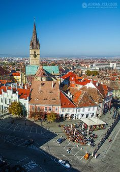 Sibiu, Romania We are fairly certain that grandpa's family is from this city. Sibiu Romania, Romanian Girls, Tourist Places, Bucharest, Eastern Europe, Paris Skyline, To Go, The Incredibles, Country