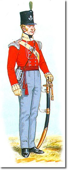31st REGIMENT OF FOOT (HUNTINGDONSHIRE) OFICIAL DE LA COMPAÑIA LIGERA - 1811. Más en www.elgrancapitan.org/foro