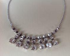 Diamante necklace Vintage 1950s in great by Tedsandtreasures