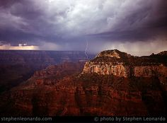 LIGHTNING AT NORTH RIM AT GRAND CANYON