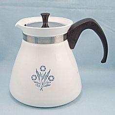 Corning, Blue Cornflower, 6-Cup Coffee Pot