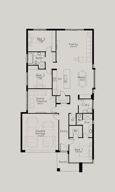 Chiara - Dechellis Homes Duplex Floor Plans, Modern House Floor Plans, New House Plans, Dream House Plans, Small House Plans, Building Plans, Building Design, Building Ideas, Usa House