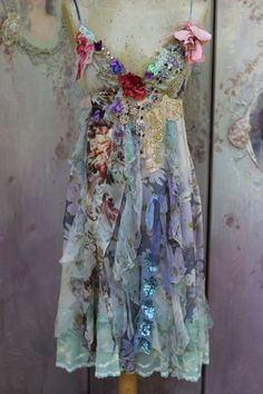 Mermaid dress baroque inspired bohemian romantic by FleursBoheme