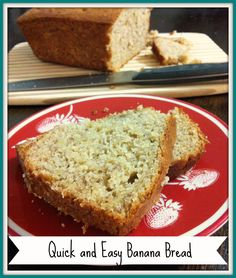 4 Ingredient Banana Bread- just cake mix, butter, eggs, and of course bananas!
