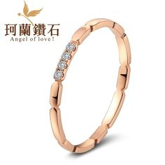 18k rose gold color gold diamond ring diamond ring female wearing a multi-obsession