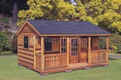 Technical Details:  Roof Style : Cottage, Total Sq. Ft : 320 Sq. Ft   Building Size : 16' x 20', Overall Height : 12'   Wall Height : 8' , Roof Pitch