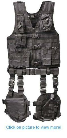 GMG-Global Military Gear Stealth Black Tactical Military Hunting Assault Vest 10 piece Combination Set Kit Includes Adjustable Pistol Handgun Dropleg Holster + Utility Gear Multi Purpose Magazine Drop Leg MOLLE Modular Pals System Pouch #GMG_Global #Military #Gear #Stealth #Black #Tactical #Hunting #Assault #Vest #piece #Combination #Set #Kit #Includes #Adjustable #Pistol #Handgun #Dropleg #Holster #Utility #Multi #Purpose #Magazine #Drop #Leg #MOLLE #Modular #Pals #System #Pouch
