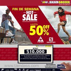 Fin de Semana Hot Sale! Hasta -50%en Le Coq y Salomon. Aplican condiciones y restricciones. http://www.tiendass.com