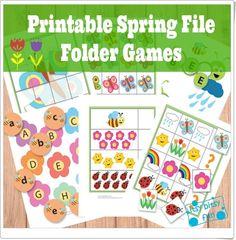 Fichas de primavera para Educación Infantil, de itsybitsyfun.com, con un extraordinario color y diseño sobre números, series, abecedario, formación de palabras, colores y puzzles.