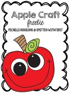 Looking for a cute and simple apple craft to go along with your Apple or Fall lessons? This apple craft includes a blackline copy for students to color, and craftivity pieces for the apple face, eyes, stem, and leaf. Simply print on white or colored paper and let your students create!   Blessings,  Michelle