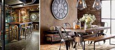 #industrial dining room