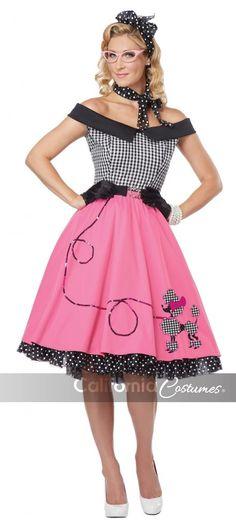 1950 S Pink Lady Rock N Roll Lunettes Grease Fancy Dress Costume rockabilly