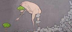Illustrazione sul consumo di suolo