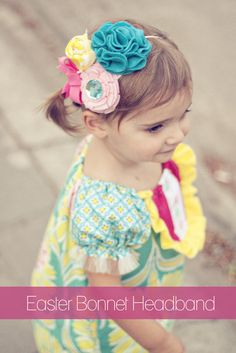 Tutorial from Kelly at Sewing in No Man's Land for a Cute Boutique-type headband for little girls.  Cute and easy -- very little hand sewing.