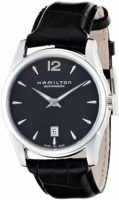 Hamilton Men's H38515735 Jazzmaster Black Dial Watch Hamilton. $650.00. Automatic movement. Case diameter: 40 mm. Durable sapphire crystal protects watch from scratches. Stainless-Steel case. Water-resistant to 99 feet (100 M). Save 16% Off!
